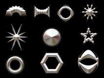 Formas de prata ilustração stock
