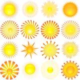 Formas de Sun Imagem de Stock