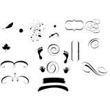 Formas decorativas do ornamento ilustração stock