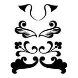 Formas decorativas do ornamento ilustração royalty free