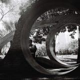Formas del cemento en un parque Fotos de archivo