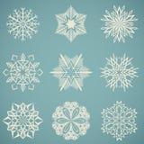Formas del copo de nieve Fotografía de archivo