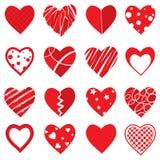 Formas del corazón del vector Fotografía de archivo