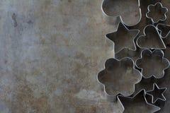 Formas del cortador de la galleta desde arriba Fotografía de archivo