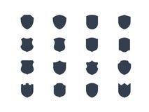 Formas del escudo Foto de archivo libre de regalías