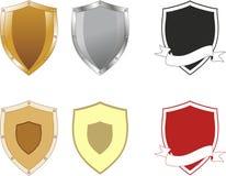 Formas del escudo Fotos de archivo