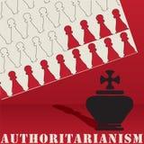 Formas del extracto del cartel del autoritarismo ilustración del vector