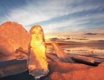 Formas del hielo fotos de archivo