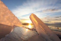Formas del hielo fotografía de archivo libre de regalías