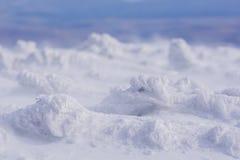 Formas del hielo del viento en las montañas Imagen de archivo libre de regalías