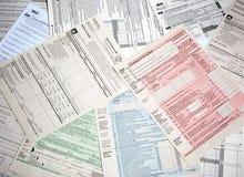 Formas del impuesto sobre la renta imagen de archivo libre de regalías
