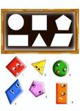 Formas del juego Fotos de archivo
