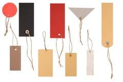 Formas diferentes de Tag coloridos vazios fotografia de stock royalty free