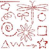 Formas diferentes e objetos selecionados dos joaninhas ilustração royalty free