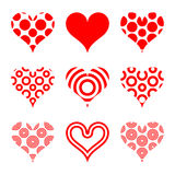 Formas do coração Foto de Stock Royalty Free
