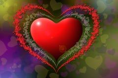 Formas do coração Imagens de Stock Royalty Free