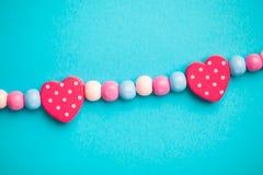 Formas do coração do brinquedo Foto de Stock Royalty Free