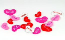 Formas do coração do Valentim imagem de stock