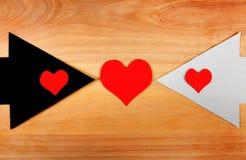 Formas do coração e as setas Fotos de Stock