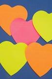 Formas do coração: fundo. Imagens de Stock