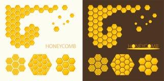 Formas do favo de mel Imagens de Stock