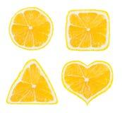 Formas do fruto do limão Fotografia de Stock
