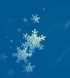 Formas do fundo da neve no azul Fotos de Stock Royalty Free