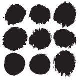 Formas do Grunge ajustadas Foto de Stock Royalty Free