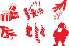 Formas do Natal Fotos de Stock