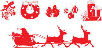 Formas do Natal Imagens de Stock Royalty Free