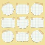 Formas do papel de nota com fita. Imagem de Stock Royalty Free