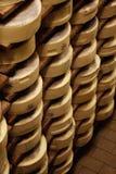 Formas do queijo fotografia de stock royalty free