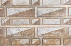 Formas do retângulo no wal imagens de stock