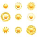 Formas do sol Imagem de Stock Royalty Free