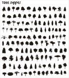Formas do vetor da árvore Fotografia de Stock Royalty Free