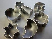 Formas dos cortadores do cozimento Imagens de Stock Royalty Free