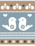 Formas dos pássaros e do coração do amor Foto de Stock Royalty Free