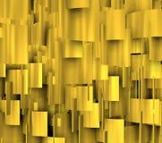 Formas douradas no comosition 3d vertical Imagem de Stock