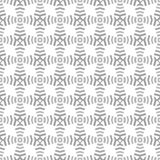 Formas e linhas cinzentas sem emenda geométricas do teste padrão Foto de Stock
