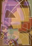Formas e linhas da arte abstrata Imagens de Stock