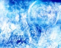 Formas espectrais azuis Imagens de Stock