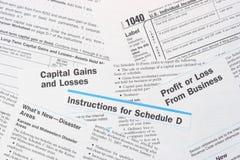 Formas federales del impuesto sobre la renta del IRS Imagen de archivo