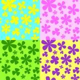 Formas florais brilhantes simples em um fundo da cor de contraste Imagem de Stock Royalty Free
