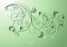 Formas florais verdes Fotografia de Stock Royalty Free