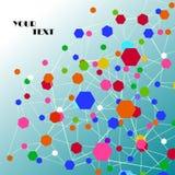 Formas geométricas abstratas de compostos moleculars Imagens de Stock Royalty Free