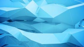 Formas geométricas abstratas no movimento ilustração royalty free
