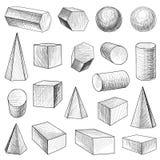 Formas geométricas ajustadas Foto de Stock