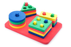 Formas geométricas ajustadas para crianças Fotografia de Stock Royalty Free