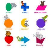 Formas geométricas básicas con los animales libre illustration