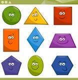 Formas geométricas básicas dos desenhos animados Imagens de Stock Royalty Free
